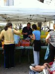 Farmer Mick Klug at the first outdoor market